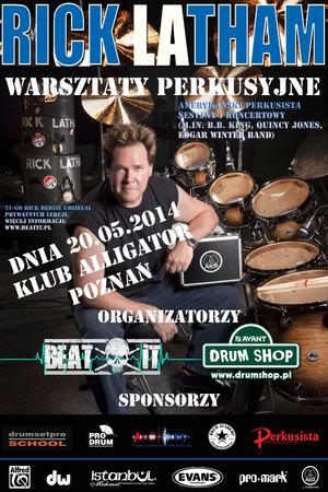 Warsztaty perkusyjne Rick Latham (drumshop.pl)