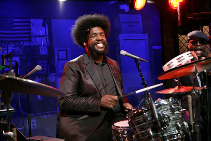 "LATE NIGHT WITH JIMMY FALLON -- Episode 527 -- Pictured: (l-r) The Roots- Ahmir Khalib Thompson aka ""Questlove"" and Tariq Trotter aka ""Black Thought"""
