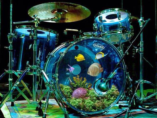 Akwarium w bębnach