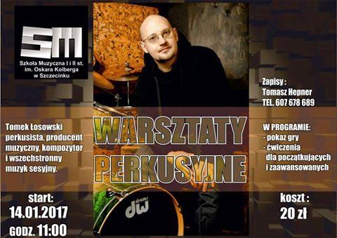 Perkusista Tomasz Łosowski poprowadzi warsztaty