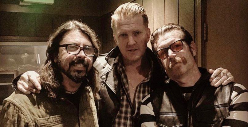 Dave Grohl, Josh Homme, Jesse Hughes razem w studio
