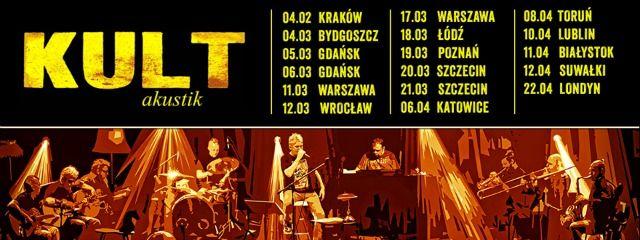 Perkusista Tomasz Goehs i Kult na trasie akustycznej