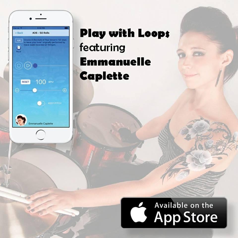Emmanuelle Caplette i jej nowa aplikacja perkusyjna na smartfona