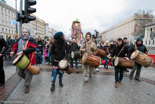 Perkusyjny pogrzeb zimy w Poznaniu