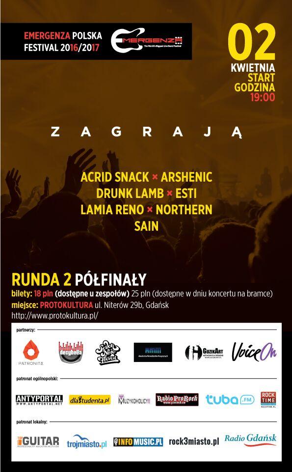 Emergenza Festival Polska Półfinały Trójmiasto
